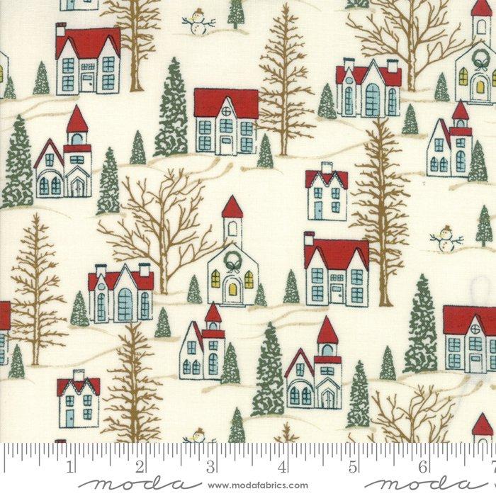 Moda - Winter Village by Basic Grey - White Paper 30551 11 Villages
