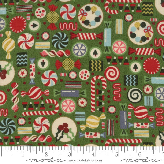 Moda - Winter Village by Basic Grey - Spruce 30553 15 Candy Canes and Christmas Candy