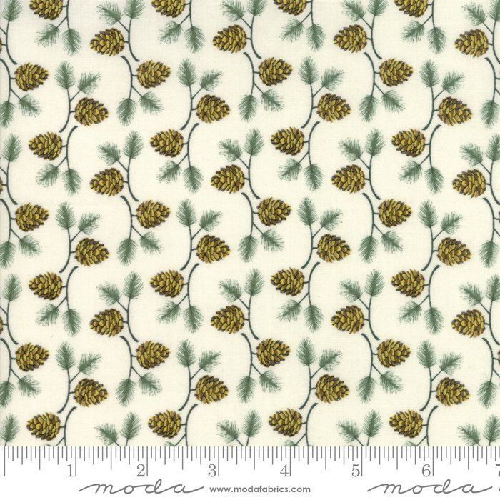 Moda - Winter Village by Basic Grey - White Paper 30555 11 Pine Cone