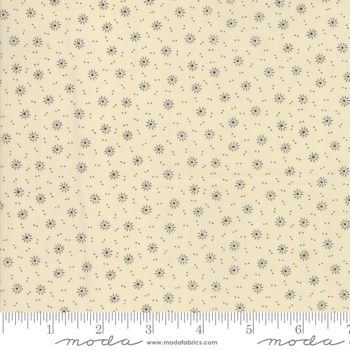 Jo's Shirtings by Jo Morton for Moda Fabric | 38041 12 Parchment Charcoal