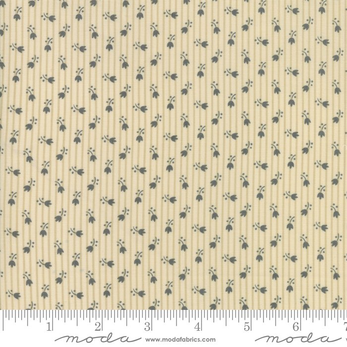 Jo's Shirtings by Jo Morton for Moda Fabric | 38045 22 Parchment Charcoal
