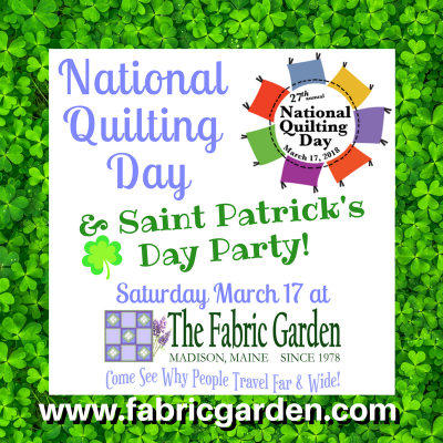National Quilting Day Saint Patricks Day Party March 17