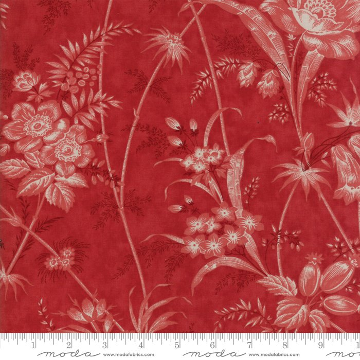 Moda Fabrics - Holly Woods by 3 Sisters - 44170 17 Berry  Floral Toile