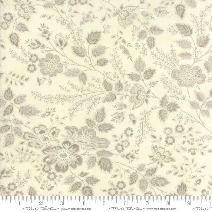 Moda Fabrics - Holly Woods by 3 Sisters - 44171 11 Winter Blooms - Snow