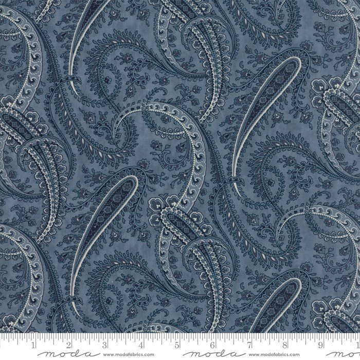 Moda Fabrics - Holly Woods by 3 Sisters - 44173 14 Paisley - Sky Blue
