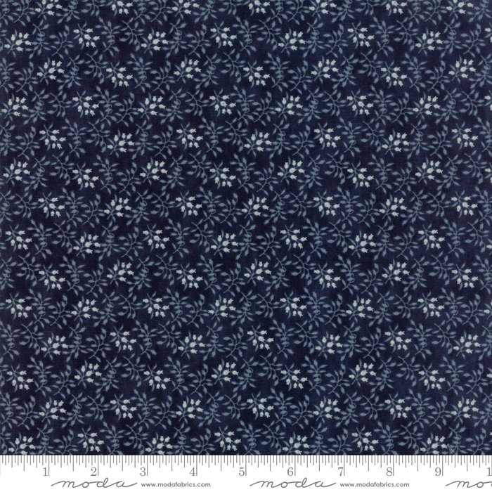 Moda Fabrics - Holly Woods by 3 Sisters - 44175 16 Floret in Midnight