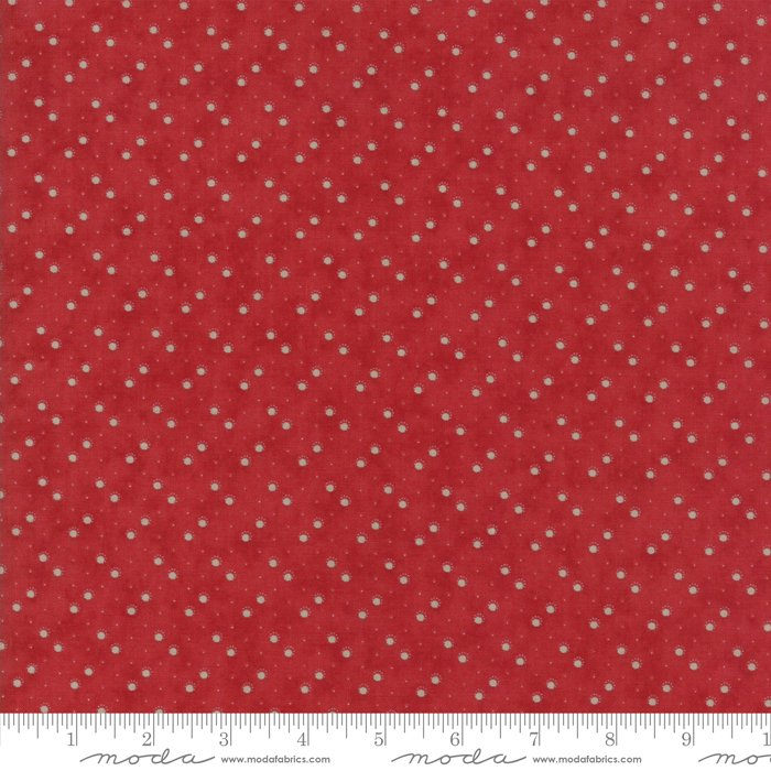 Moda Fabrics - Holly Woods by 3 Sisters - 44176 17 Snow Balls - Berry