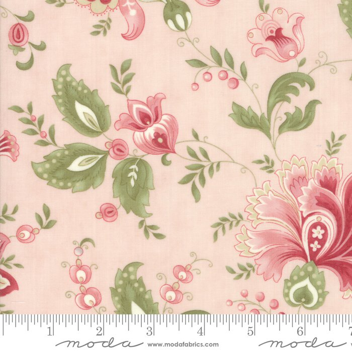Porcelain by 3 Sisters for Moda Fabrics - 44190 15 Jacobean Pink Blossom