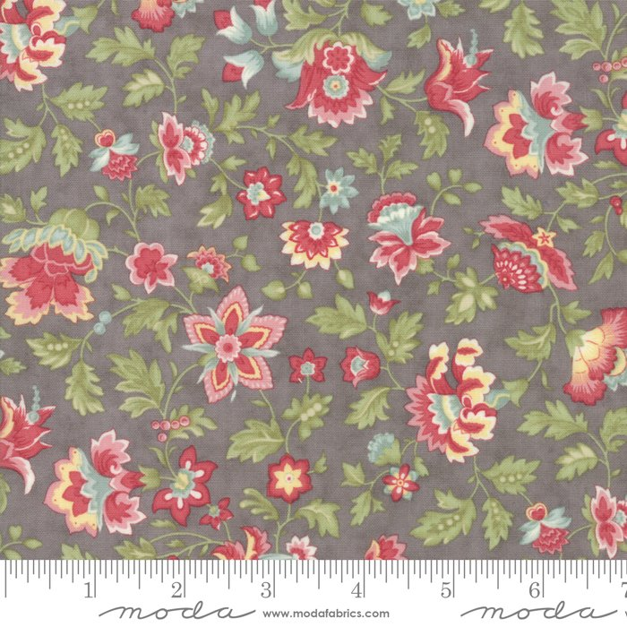 Porcelain by 3 Sisters for Moda Fabrics - 44191 12 Floral Flourish Dove Grey