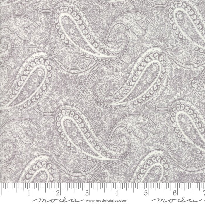 Porcelain by 3 Sisters for Moda Fabrics - 44192 12 Floral Etched Paisley Dove Grey