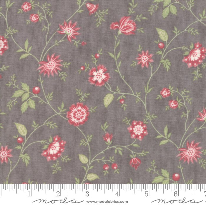 Porcelain by 3 Sisters for Moda Fabrics - 44193 12 Heirloom Floral Dove Grey