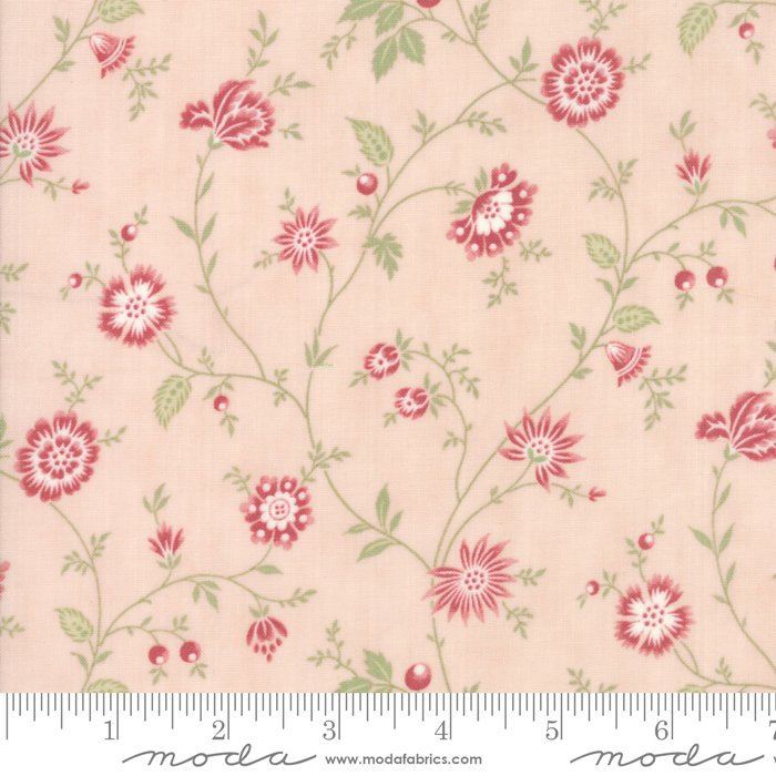 Porcelain by 3 Sisters for Moda Fabrics - 44193 15 Heirloom Floral Pink Blossom