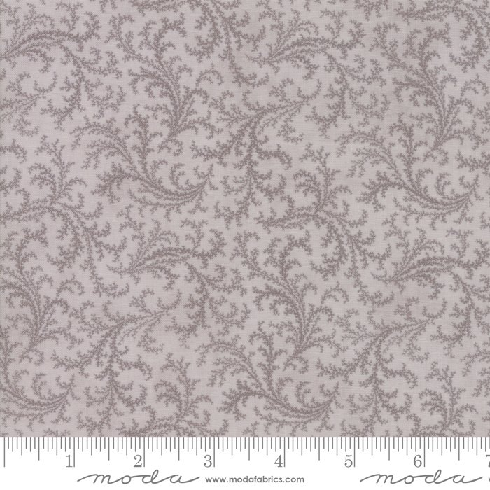Porcelain by 3 Sisters for Moda Fabrics - 44194 13 Floral Plumes Silver Grey