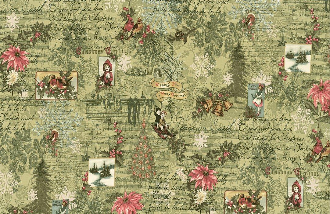 Moda - Marches de Noel 44230 13  Mistletoe Christmas Collage Victorian Postcards Music