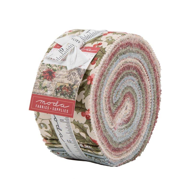 Moda - Marches de Noel 44230JR Jelly Roll - 40 Assorted Strips