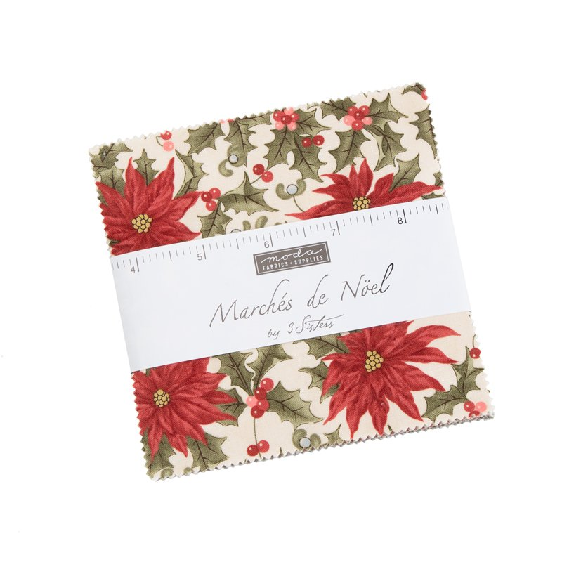 Moda - Marches de Noel 44230PP Charm Pack: 42 assorted pieces cut 5x5