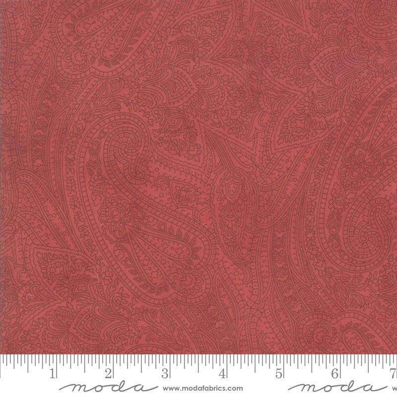 Moda - Marches de Noel 44232 12 Crimson Paisley Flourish