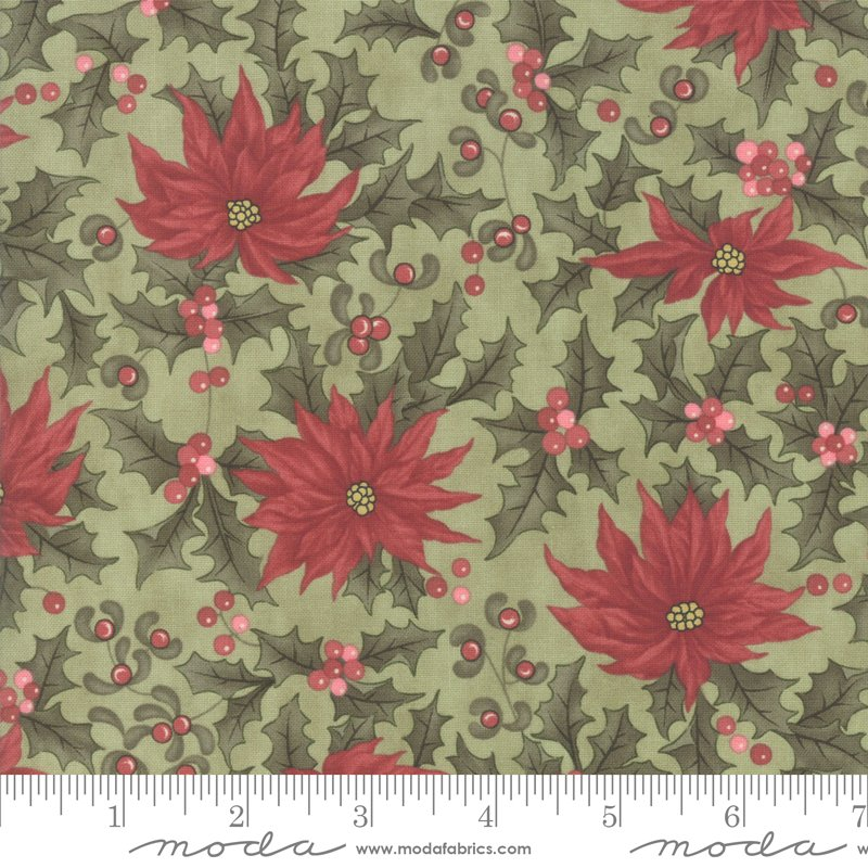 Moda - Marches de Noel 44233 12 Mistetoe Poinsettia