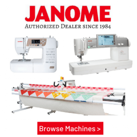 The Fabric Garden - Top 50 Janome Dealer in the USA, since 1978