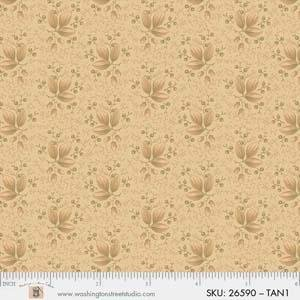 P&B King Quilt Wide Back - 4704 26590 TAN1 LEAF
