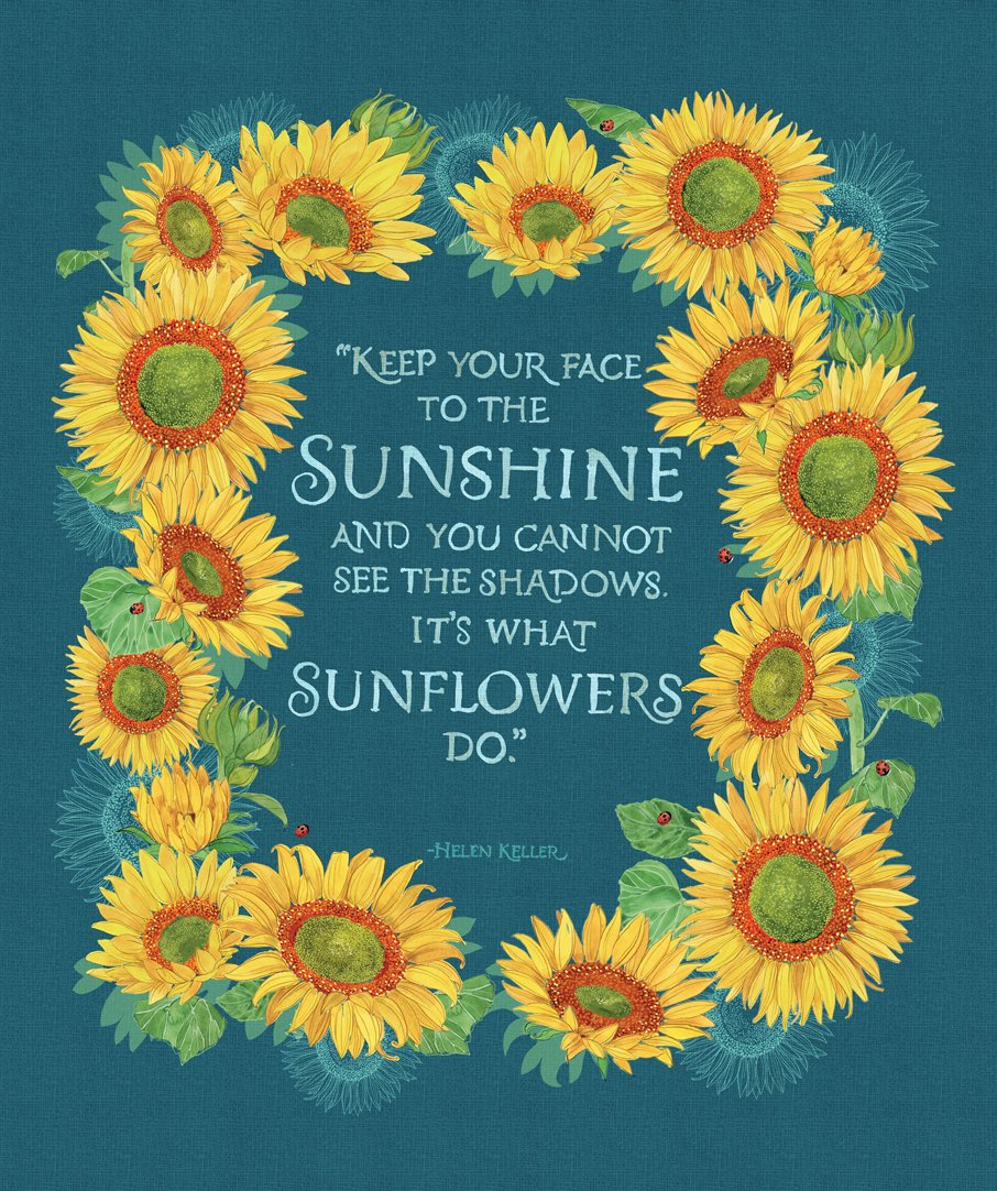Moda - Solana 48688 11 Sunflower PANEL Horizon Blue