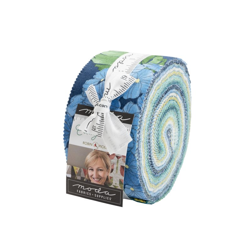 Moda | Cottage Bleu 48690JR Jelly Roll - 40 assorted strips by Robin Pickens