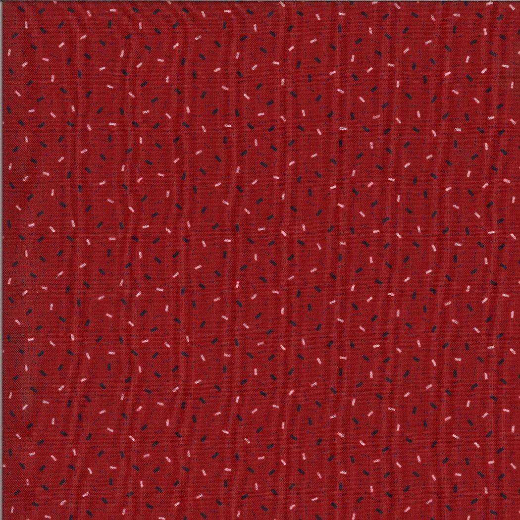 Moda American Gatherings 49127 12 Red Ticker Tape by Primitive Gatherings