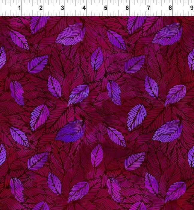 SEASONS 4SEA4 LEAVES - MULTI by In The Beginning Fabrics