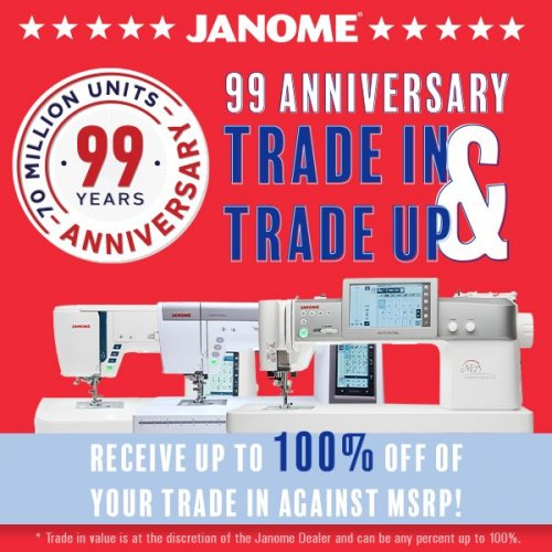 Janome Trade in Trade Up event