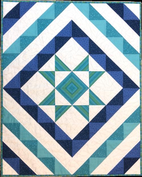 Our Maine Quilt Shop Hop challenge quilt | The Fabric Garden
