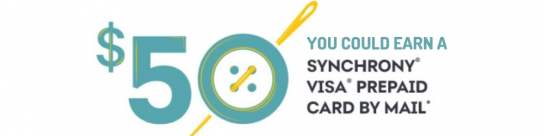 Earn a $50 gift card from Synchrony Sewing and More