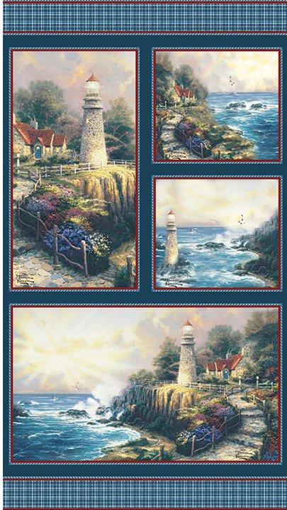 Benartex - Light of Peace Panel by Thomas Kinkade 05457-99