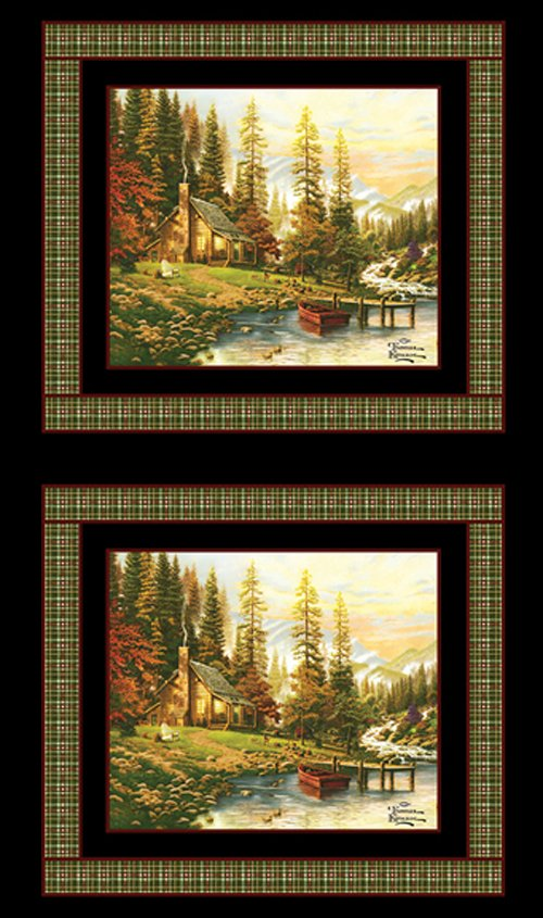 Benartex - A Peaceful Retreat  Half-Panel by Thomas Kinkade 05459-99