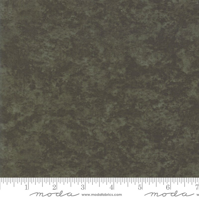 Moda Winter White: 6538 216 Pine Green Marble Tonal by Holly Taylor
