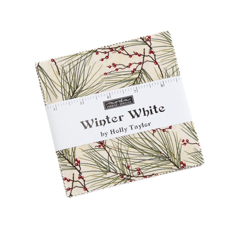 Moda Winter White 6810PP Charm Pack 42 pcs of 5x5 squares by Holly Taylor