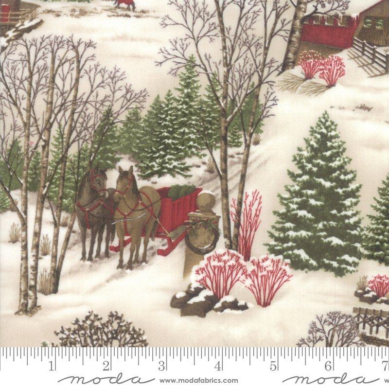 Moda Winter White: 6811 13 Scenic Print - Multi