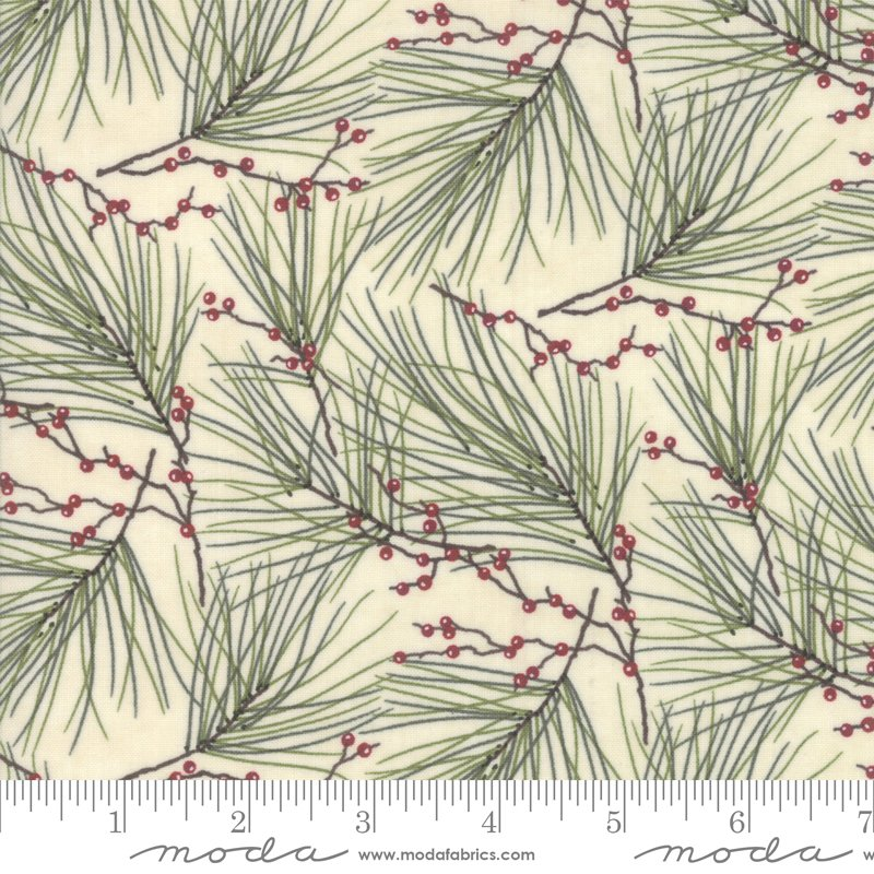 Moda Winter White: 6812 19 Pearl Pine Needles by Holly Taylor