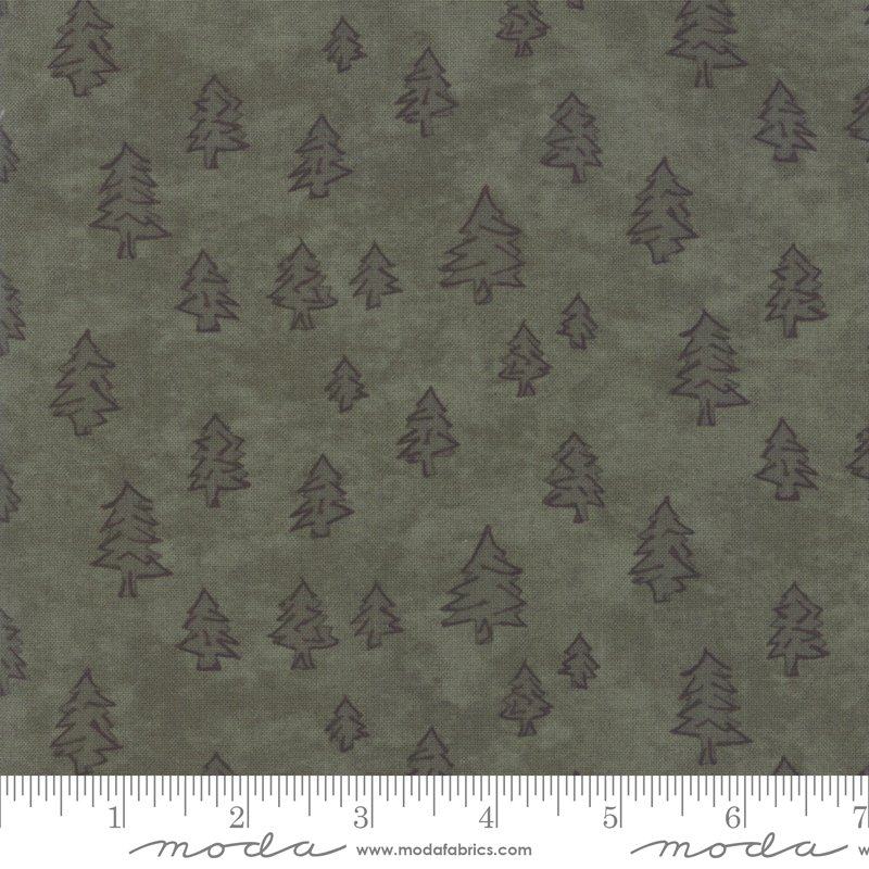 Moda Winter White: 6814 16 Pine Green Trees by Holly Taylor
