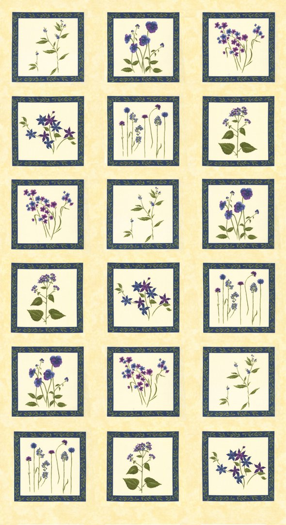 Moda Violet Hill 6820 17 PANEL 24 Eggshell by Holly Taylor