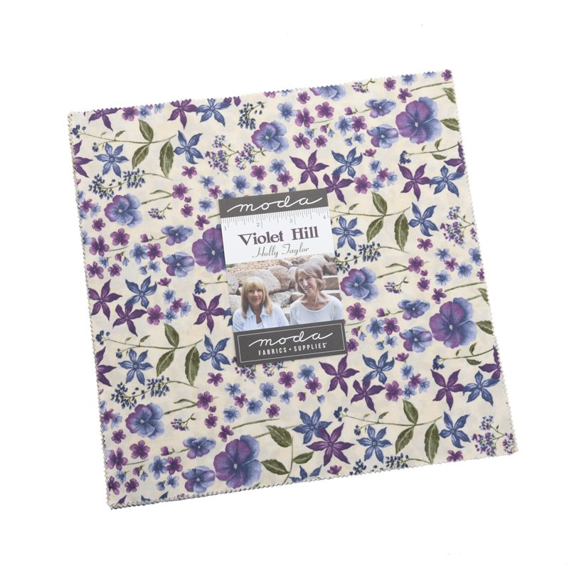 Moda Violet Hill Layer Cake 6820LC by Holly Taylor - 42 asst 10 squares