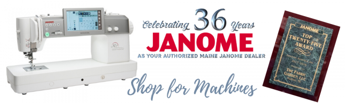 Shop for Janome Machines at The Fabric Garden