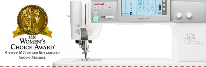 Janome Continental M7 Women's Choice Award