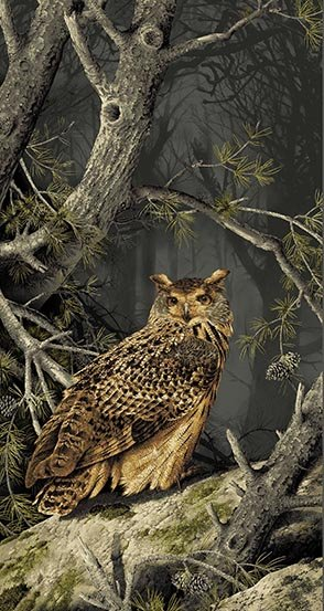 Andover Majestic Woods Owl Panel 8584-K