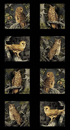Andover Majestic Woods Owl Panel 8585-K