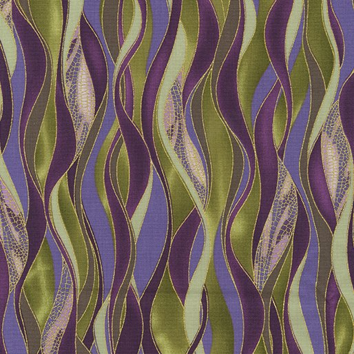 Benartex Dance of the Dragonfly 8503M 49 Dancing Waves Olive