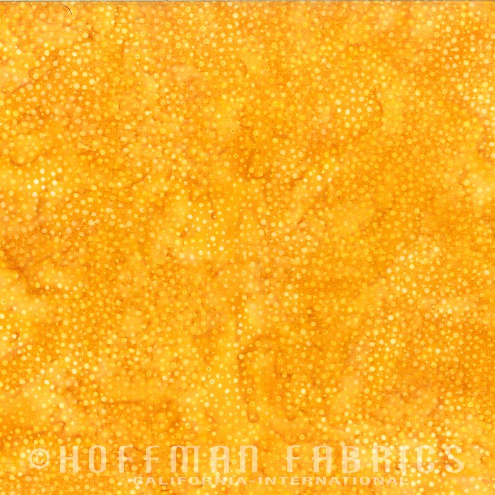 Hoffman Batik Dots 885 150 Sunflower