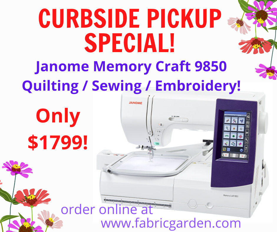 Janome Memory Craft 9850 *CURBSIDE PICKUP SPECIAL* Sewing Embroidery Quilting Machine