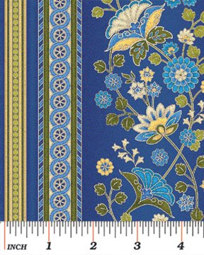 Benartex - Arabella 4184-55 ORNAMENTAL STRIPE BLUE