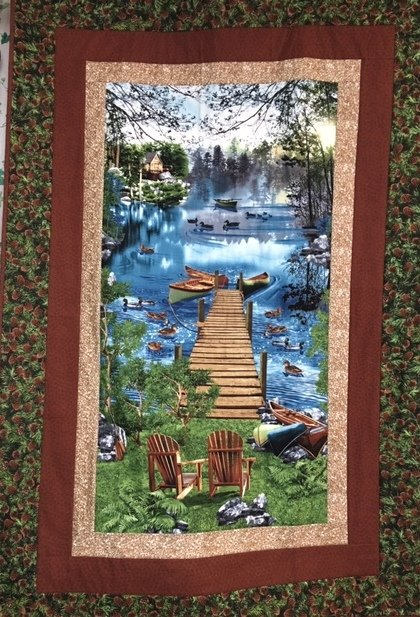 Adirondack View Quilt Kit - Easy Panel Quilt!   40 x 56