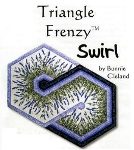 Triangle Frenzy Swirl Pattern by Bunnie Cleland